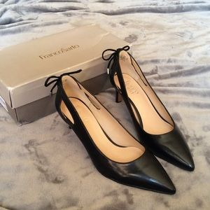 NIB Franco Sarto Black Doe Pumps Sz 9.5